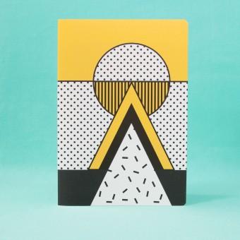 polypodium / Notizheft - A5 - I ♥ Memphis / yellow