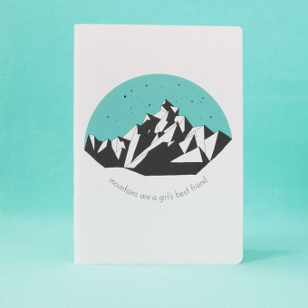 polypodium / Notizheft - A5 - mountains are a girl's best friend
