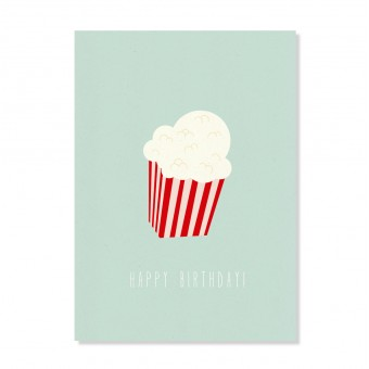 "Edith schmuckes Papier ""Happy Birthday Popcorn"" Postkarte"