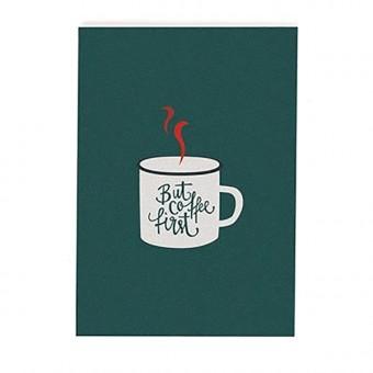 """Coffee first"" Postkarte von Roadtyping"