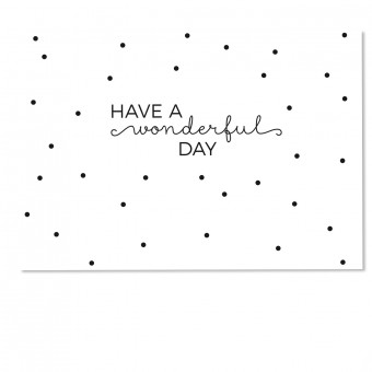 "sonst noch was? Postkarte ""Wonderful Day"" (3er Set)"