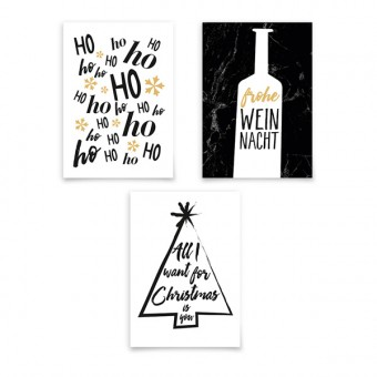 aprilplace // Typo XMas // Weihnachtskarte SET