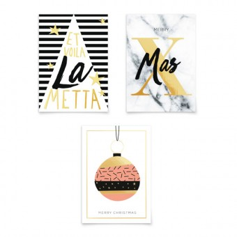 aprilplace // Golden XMas // Weihnachtskarte SET
