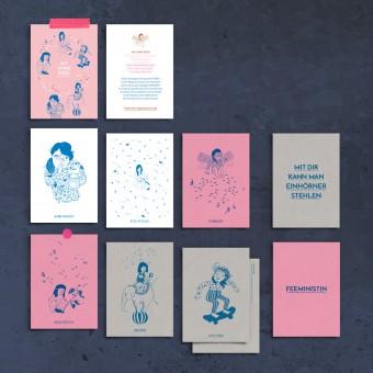 Mit Ohne Rosa Postkarten-Set (8 mal DIN A6)