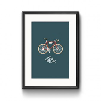 "Roadtyping Print ""Love to ride"" 