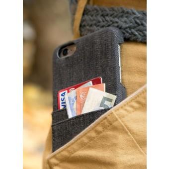 mineD HOLD EM - Handyhülle für iPhone 6/S & 6+ aus Jeans - GRAU