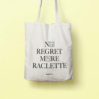 No Regret More Raclette Jutebeutel – studio ciao