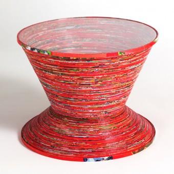 Gompf & Kehrer Beistelltisch 'paper table' (red)
