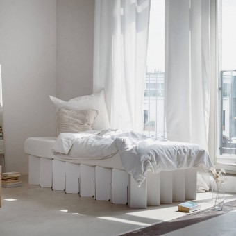 Nachhaltiges Bett 2.0 (weiß)   ROOM IN A BOX