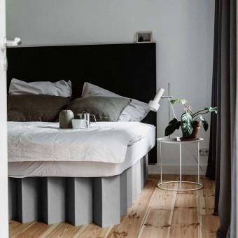Nachhaltiges Bett 2.0 (kieselgrau)   ROOM IN A BOX