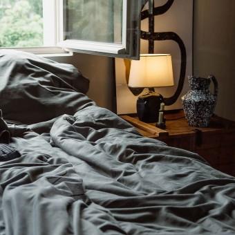 Nachhaltige Bettwäsche aus Bio-Baumwolle - grün   ROOM IN A BOX