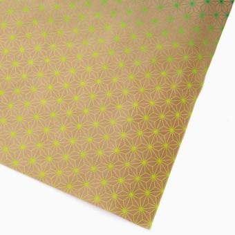 rikiki Geschenkpapier Asanoha gelb-grün