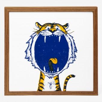 rikiki Tiger Siebdruck