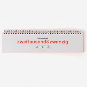 zweitausend&zwanzig - Wochenkalender 2020 – rikiki. Grafik & Produkt