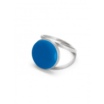 "Eva Slotta Jewellery ""Tint Deep"" Ring mit blauem Achat, 925 Silber"