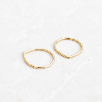 iloveblossom FUN WITH GEOMETRY RING // drop // gold