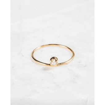iloveblossom ICE DROP BABY RING // gold