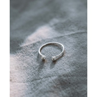iloveblossom PEBBLE TWIN RING // silber