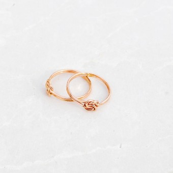 iloveblossom TIE OUR LOVE IN A DOUBLE KNOT RING // rosé gold