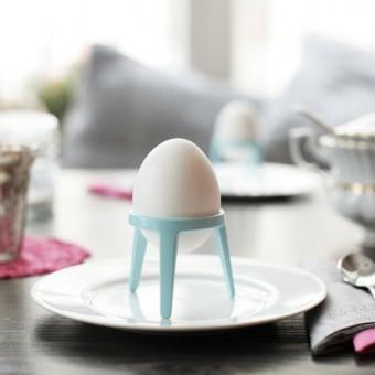rocket - Design Eierbecher aus Metall - 2er Geschenkset (verschiedene Farben)