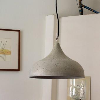 rohes wohnen Betonlampenschirm, Betonlampe ohne Leuchtenpendel, Hängelampe