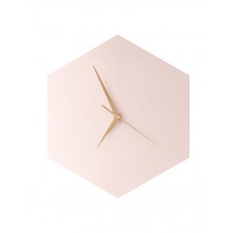 WOOD U? WATCH - Wanduhr mit schicker Linoleumoberfläche - Rosé