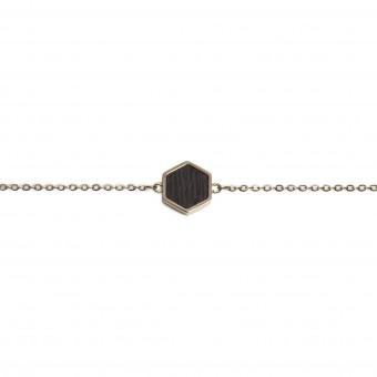 BeWooden Handkette mit Holzdetail - Rose Hexagon Bracelet