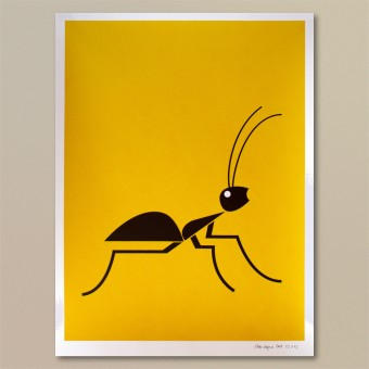 Print now - Riot later ● Abstract Ant Siebdruck