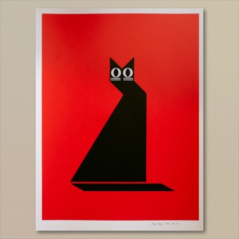 Print now - Riot later ● Abstract Cat Siebdruck