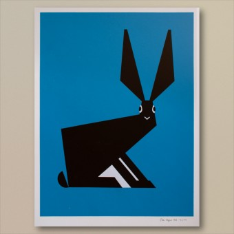 Print now - Riot later ● Abstract Rabbit Siebdruck
