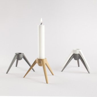 Satellite - Design Kerzenständer aus Metall - gold