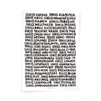 Wolfgang Philippi SCHEISS CORONA Plakat