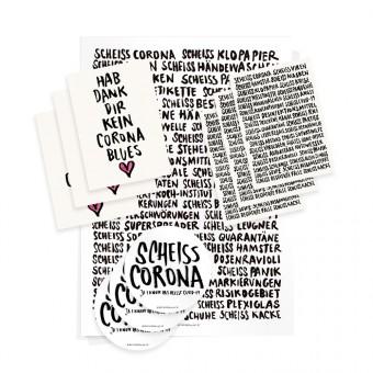 Wolfgang Philippi CORONA SOFORTHILFE Paket (1 Plakat, 6 Karten, 3 Aufkleber)