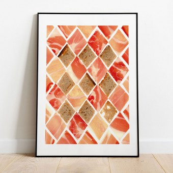 Schinken & Brot Poster/Kunstdruck A3 von Max Faber