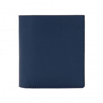 Faltbare Brieftasche in marineblau - aus premium pflanzlich gegerbtem Ziegenleder