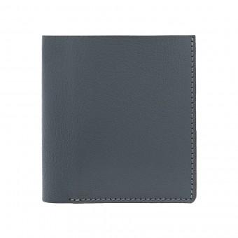 Faltbare Brieftasche in grau - aus premium pflanzlich gegerbtem Ziegenleder