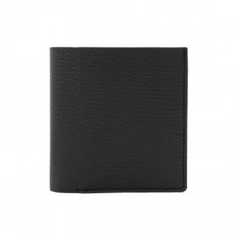 Faltbare Brieftasche in schwarz - aus premium pflanzlich gegerbtem Ziegenleder