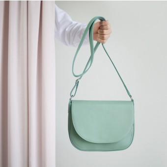 alexbender Satteltasche Echt-Leder salbeigrün