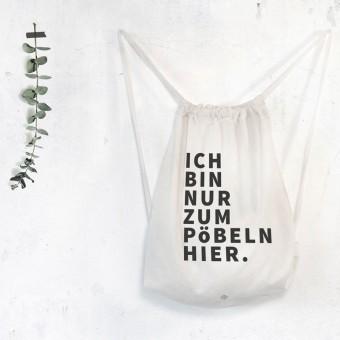 typealive / Rucksack Turnbeutel Pöbeln weiß