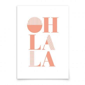 aprilplace // Oh la la // Kunstdruck Din A3