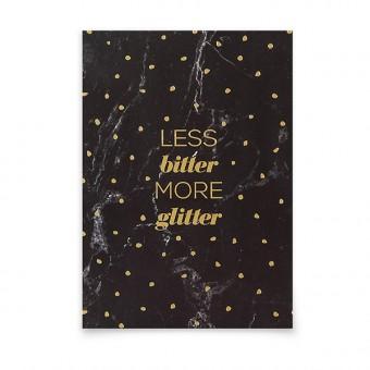 aprilplace // More Glitter // Postkarte Din A6