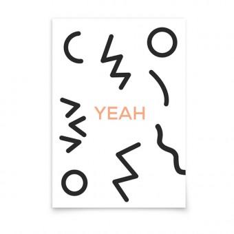 aprilplace // YEAH // Postkarte Din A6