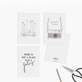 Kruth Design / POSTKARTEN MIX SET VAN