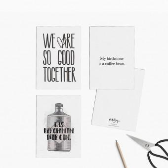 Kruth Design / POSTKARTEN SET GIN MIX
