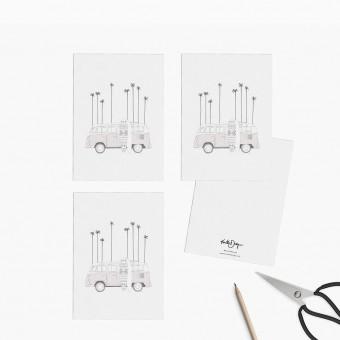 Kruth Design / POSTKARTEN SET SUMMER VAN