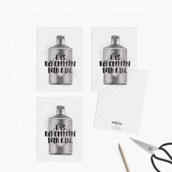 Kruth Design / POSTKARTEN SET GIN