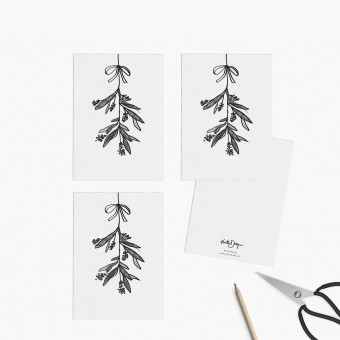 Kruth Design / POSTKARTEN SET MISTLETOE