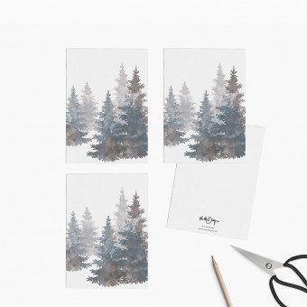 Kruth Design / POSTKARTEN SET TREES