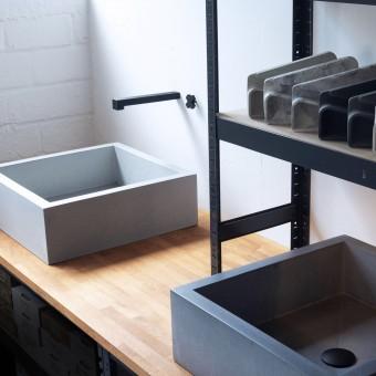 Beton-Waschbecken Serie X47 von Grellroth Design