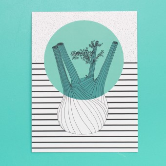 polypodium / Print - Fenchel - 15 cm x 20 cm - A5